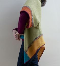Ravelry: Color Block Cascading Cardi  by Myra Wood
