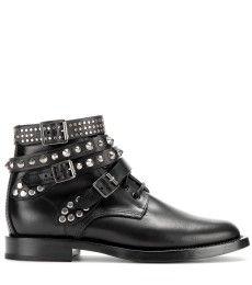 Saint Laurent - Rangers leather ankle boots - mytheresa.com GmbH