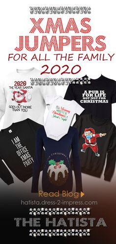 Where to find this years best Christmas Jumpers. Best Christmas Jumpers for 2020. Lockdown Christmas Jumpers. The Christmas sweater, once a TACKY gift you gave Dad in the 80's to force him to be grumpy all day wearing Santa on his chest, is now a cool (ish) way to dress for Christmas. Christmas Jumper Day ideas 2020. Assuming you don't have a closet full of the original Vintage Christmas Sweaters, then don't worry, there are a plethora of Modern alternatives. #christmas #christmasgifts…