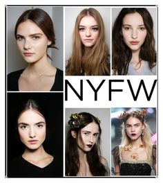 """NYFW MAKEUP LOOKS"" by dianakhuzatyan ❤ liked on Polyvore featuring beauty"