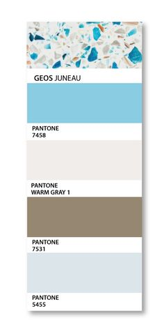 PANTONE swatches compliment GEOS Recycled Glass in Juneau....
