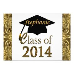 Class Of 2014 Graduation Gold Party Invitations We have the best promotion for you and if you are interested in the related item or need more information reviews from the x customer who are own of them before please follow the link to see fully reviewsDeals          Class Of 2014 Gra...