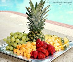 How to make a gorgeous fruit and cheese tray in minutes {The Creativity Exchange}