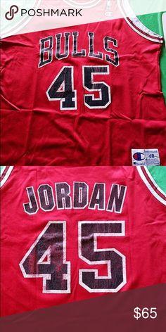 07340c43c Michael Jordan 45 Bulls Champion Jersey Size 48 Michael Jordan 45 Bulls  Champion Jersey Size 48