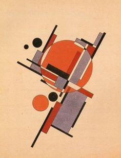 Suprematist Composition (1922), Iakov Chernikhov, #abstract #art #geometric: