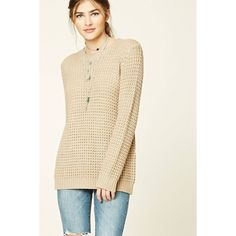 5b616b494f A midweight waffle knit sweater featuring a crew neckline