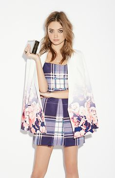 Finders Keepers Tartan All Time High Dress in Purple XS - M | DAILYLOOK