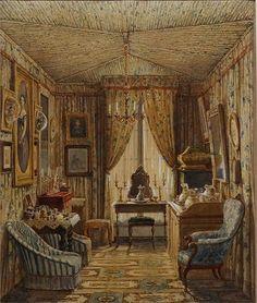 """120910_166 Exposition """"Intérieurs romantiques"""" Aquarelles 1820-1890 - Musée de la Vie romantique"""