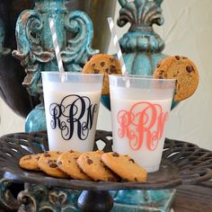 Personalized Monogrammed Shatterproof Party Cups.  Great for weddings, parties and gifts!