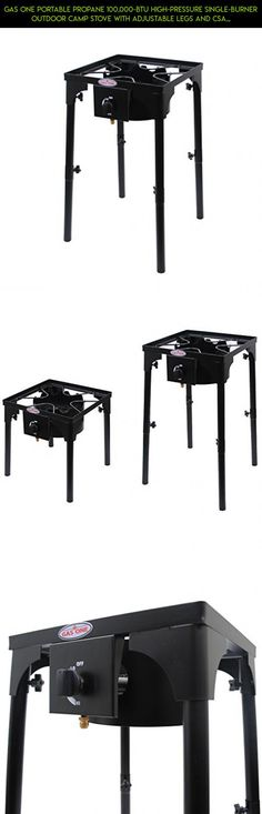 GAS ONE Portable Propane 100,000-BTU High-Pressure Single-Burner Outdoor Camp Stove with Adjustable Legs and CSA Listed 0-20PSI High Pressure Regulator and Hose Perfect for Brewing #fpv #burner #tech #technology #cooking #outdoor #camera #kit #drone #plans #gadgets #products #parts #shopping #racing