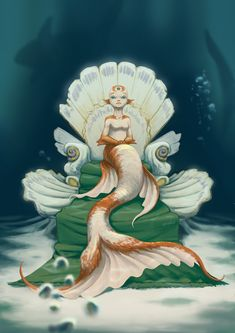 My entry for Mays ! Its the Childlike Empress from the Neverending Story reimagined as a mermaid!) Hope you like it as much as I do! Siren Mermaid, Mermaid Art, Character Art, Character Design, Character Ideas, The Neverending Story, Mermaid Pictures, Mermaid Drawings, Merfolk