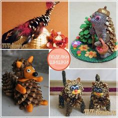 Поделки из шишек. Идеи » Дизайн & Декор своими руками Diy And Crafts, Crafts For Kids, Pine Cone Crafts, Christmas Crafts, Christmas Ornaments, Fairy Garden Accessories, Nature Crafts, Pine Cones, Lamb