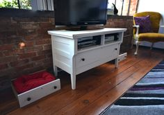Turning a dresser into a tv stand. Mine was easy to do!