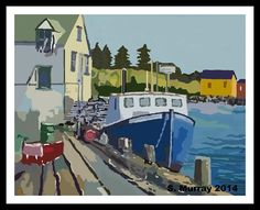 Nova Scotia Fishing Boat Digital Art by Allison Murray Old Boats, Richmond Hill, Framed Prints, Canvas Prints, Nova Scotia, Fishing Boats, Digital Art, Abstract, Artwork