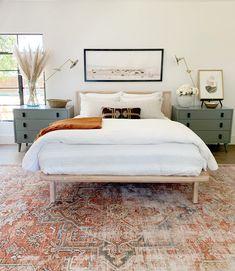 Fall Bedroom Decor, Home Bedroom, Master Bedrooms, Bedroom 2018, Warm Bedroom, Budget Bedroom, Ikea Bedroom, Bedroom Rugs, Girls Bedroom