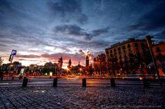 Barcelona sunset #travelpinspiration