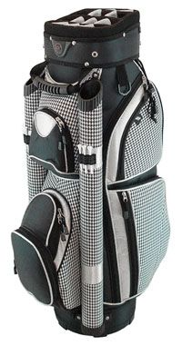 Hunter Eclipse Ladies Cart Golf Bags - Black Houndstooth Golf Bags f4c1c9ebe39