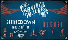 Brooklyn NY! It's your turn to see the Carnival of Madness with #Shinedown Ford Amphitheater at Coney Island! Who's going to the show?! Show info: http://fordamphitheaterconeyisland.com/events/carnival-of-madness/