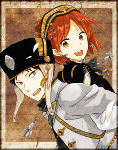 Shirayuki & Obi // Akagami no Shirayuki-hime - Snow White with the Red Hair: I know she loves Zen but they would've made such a cute couple! Manga Anime, Anime Art, I Love Anime, Me Me Me Anime, Howl's Moving Castle, Sailor Moon, Akagami No Shirayukihime, Snow White With The Red Hair, Kawaii
