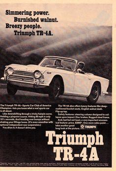 Original Vintage B Print Ad - Triumph TR-4A - 1968 | eBay