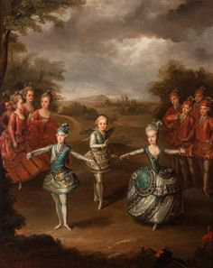 Follower of Johann Georg Weickert The Imperial Children Staging a Ballet to Celebrate the Wedding of their Brother, Emper...