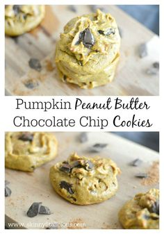 Get your pumpkin & chocolate fix with a creamy, melt-in-your-mouth Pumpkin Peanut Butter Chocolate Chip Cookie. These cookies are Paleo, gluten free and vegan!