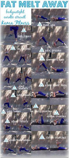 Fat Melt Away  Bodyweight Cardio Circuit Workout