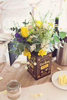 Whimsical Wedding // Image by Claire Penn Photography #TableFavours #SaffronSplendour
