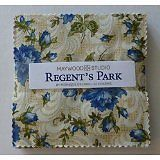 "Regent's Park Floral Charm Pack, 5"" Squares, By Maywood Studio, Cotton Fabric"