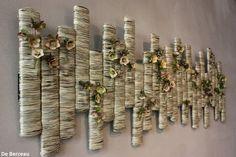 Wall art using dry flowers Art Floral, Deco Floral, Floral Design, 3d Wall Art, Flower Boxes, Flower Decorations, Diy Art, Garden Art, Flower Designs