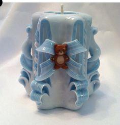 Babyshowercandlefavors#teddybearcandle#carvedcandle