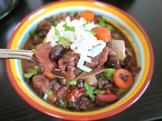 cuban chorizo stew - Budget Bytes.  Made this tonight. Actually I did most of it in the crock pot. I used kidney beans because I had them. And I also used her recipe for dry beans I stead of beans from a can. This is SOOO delicious! We will be making it again.