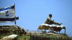 Israelische Grenzposten am Hermon, 1981 Juergen/Timeline Images #1980er #1980s #80er #80s #Isarel #IDF #Grenzkontrolle #Grenze #Flagge #Fernglas #Soldat #Militär #Libanon