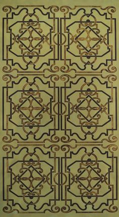 Modello Pattern - It's a little too geometric. It needs more organic touches such as leaves, flowers, curves.