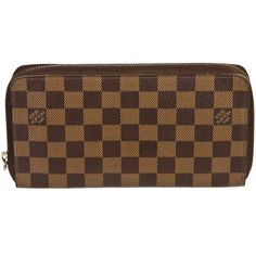 Pre-owned Louis Vuitton Wallet ($876) ❤ liked on Polyvore featuring bags, wallets, apparel & accessories, handbags, wallets & cases, wallets & money clips, leather wallet, brown wallet, leather zip around wallet and louis vuitton wallet