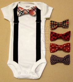 Baby Boy Outfit  Suspender Onesie with your by KraftsbyKizzy, $17.50