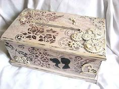 Decorative Boxes, Vintage, Wedding Ideas, Design, Home Decor, Jewelry, Decoration Home, Jewlery, Room Decor