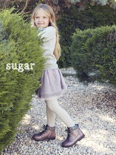 Laia from Sugar Kids for Besson Chaussures lookbook fw16.
