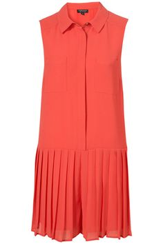 Topshop Chiffon Tennis Playsuit