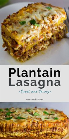 Plantain Lasagna: A Sweet and Savory Twist Plantain Lasagna: A Sweet and Savory Twist,– Ultimate Comfort Food — Plantain Lasagna – a sweet and savory version of lasagna, made with sweet plantains, beef, and. Boricua Recipes, Comida Boricua, Beef Recipes, Mexican Food Recipes, Cooking Recipes, Guyanese Recipes, Dutch Recipes, Cake Recipes, Recipies