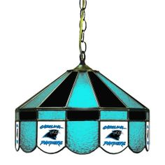 """Use this Exclusive coupon code: PINFIVE to receive an additional 5% off the Carolina Panthers 16"""" Glass Lamp at SportsFansPlus.com"""