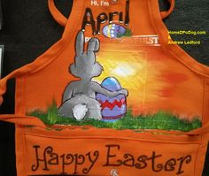 Happy Easter Apron Art from the orange apron folks at The Home Depot