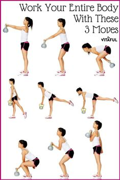 Work All The Core Muscles In Your Body With These Three Kettlebell Workout Moves Total Body Workout Workout Routine Sport Fitness, Body Fitness, Fitness Diet, Health Fitness, Free Fitness, Fitness Wear, Physical Fitness, Circuit Kettlebell, Kettlebell Training