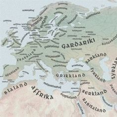 """Old Norse Map of the Viking World """"The geographical range of Viking exploration between the 9th and 12th centuries AD was amazing. From their Northern European homelands in today's Norway, Denmark and Sweden they used the Norwegian and Baltic Seas to engage with the world """" Clicking on the map enlarges it - you could go from the 768 X 364 size up to a 5039 X 2413 monster! All the placenames are in Old Norse. or English.  Going in Ancient History and"""