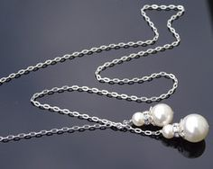 Stylish Swarovski Lariat Bridal Pendant Necklace, Julia Pearl Pendant, Pearl Necklace, Pendant Necklace, Hair Jewelry, Jewelry Box, Wedding Necklaces, Fashion Advice, Sterling Silver Chains, Ear Piercings