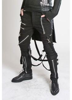 Bumflap Bondage Pants by Tripp NYC in Black