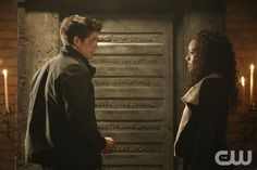 """The Originals -- """"The Devil is Damned"""" -- Image Number: OR213a_0024.jpg -- Pictured (L-R): Daniel Sharman as Kaleb and Maisie Richardson-Sellers as Rebekah -- Photo: Quantrell Colbert/The CW -- © 2015 The CW Network, LLC. All rights reserved.pn"""