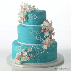 Enjoy a custom made 43 piece kit that comes complete and ready to assemble onto your cake. The Precious Elegance kit includes: Rose Fillers, Mini, Pin Pretty Cakes, Beautiful Cakes, Amazing Cakes, Turquoise Cake, Turquoise Color, Haunted House Cake, Cupcakes, Cupcake Cakes, Cake Kit