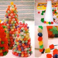 Árboles y pinchos de chuches para fiestas de cumpleaños o comuniones