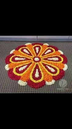 Picture result for diwali decoration FLOWER Simple Rangoli Designs Images, Rangoli Designs Flower, Rangoli Border Designs, Colorful Rangoli Designs, Rangoli Designs Diwali, Diwali Rangoli, Flower Rangoli, Beautiful Rangoli Designs, Kolam Designs
